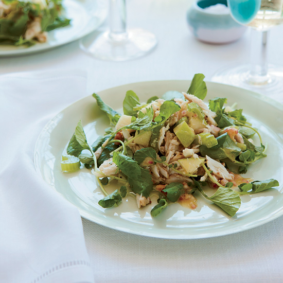 Crab, Apple and Watercress Salad with Walnut Vinaigrette