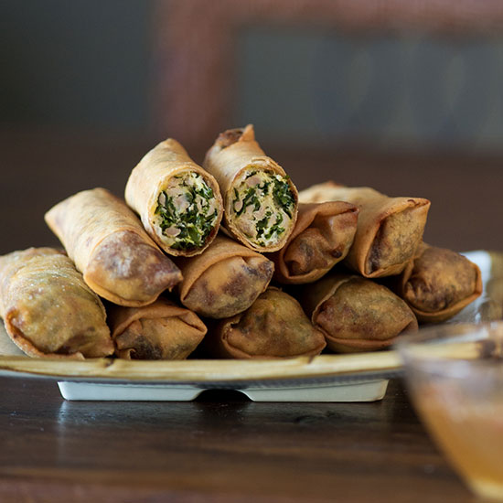 Bountiful's Rebellious Kale and Chicken Egg Rolls