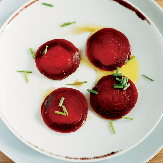 "Beet-and-Goat Cheese ""Ravioli"""