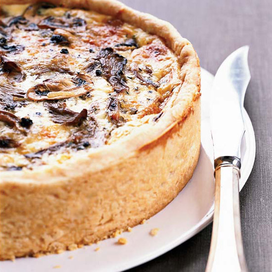 <p>Over-the-Top Mushroom Quiche</p>