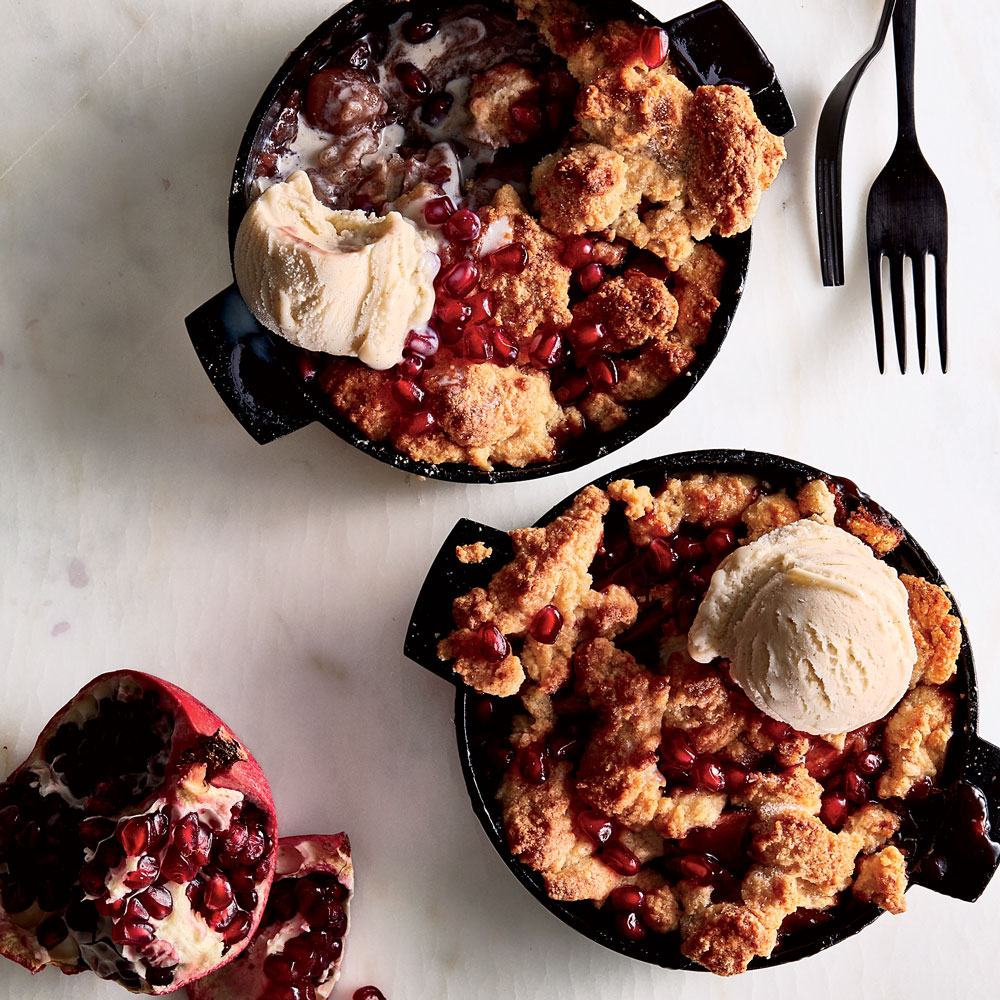 Apple-Pomegranate Cobbler