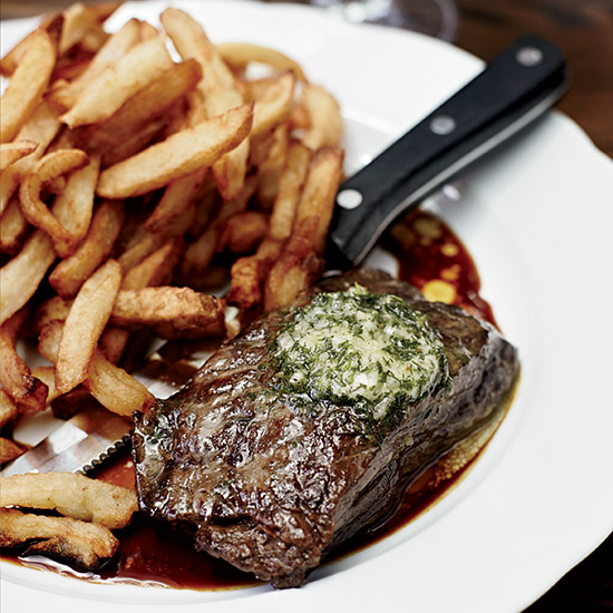 Steak Frites & Red Bordeaux