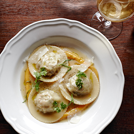 Braised Rabbit Ravioli & Umbrian White
