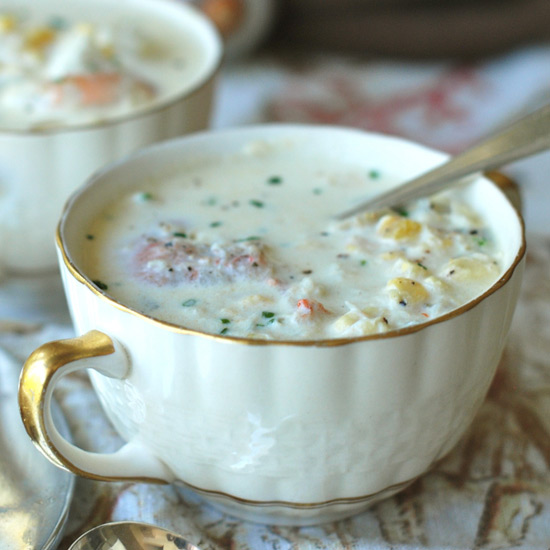 Shrimp-and-Smoked-Oyster Chowder