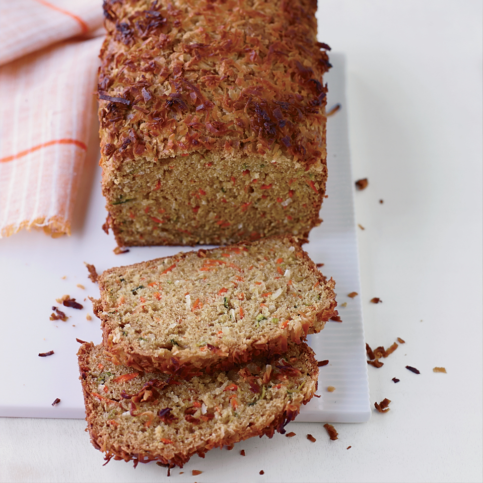 Carrot, Zucchini and Coconut Bread