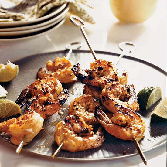 Grilled Sour Cream-Marinated Shrimp