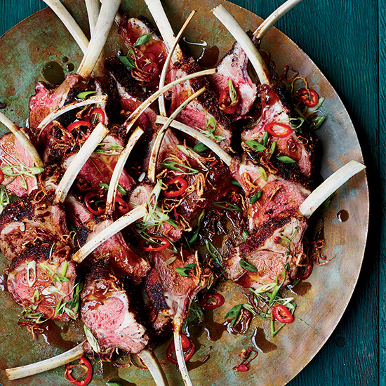 Sichuan Racks of Lamb with Cumin and Chile Peppers