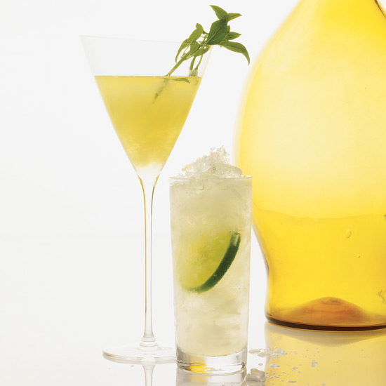 Lemon & Basil Martini