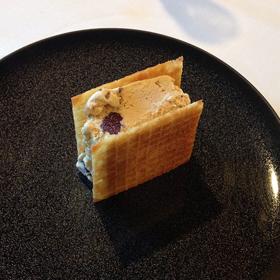 Smoked Ice Cream Sandwich at Etxebarri