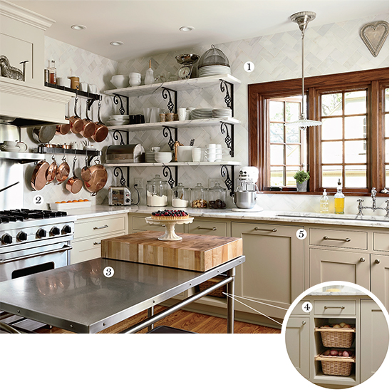 An Ultra-Practical, Bistro-Style Kitchen