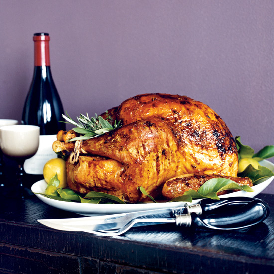 Apricot-Glazed Turkey with Fresh Herb Gravy
