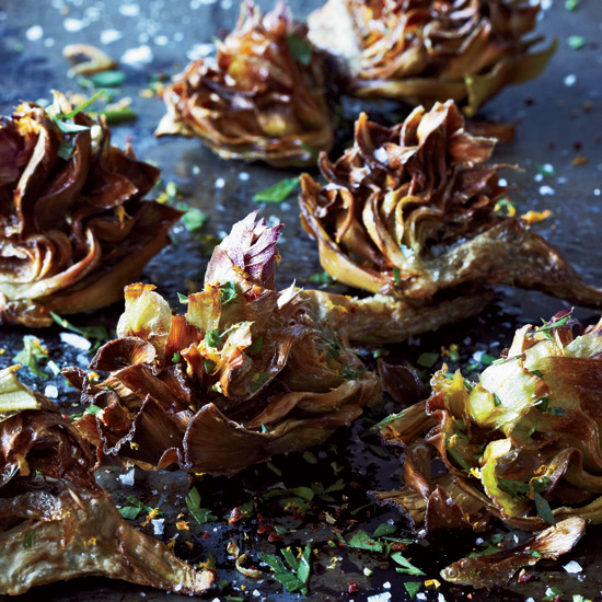 Fried Artichokes With Citrus & Parsley