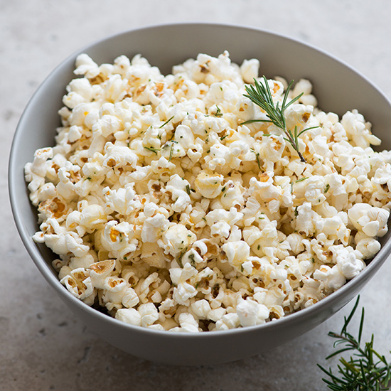 Rosemary and Sea Salt Popcorn