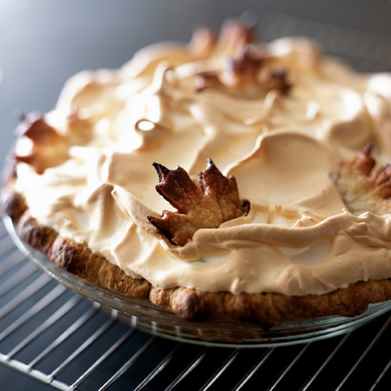 Pumpkin Meringue Puff Pie