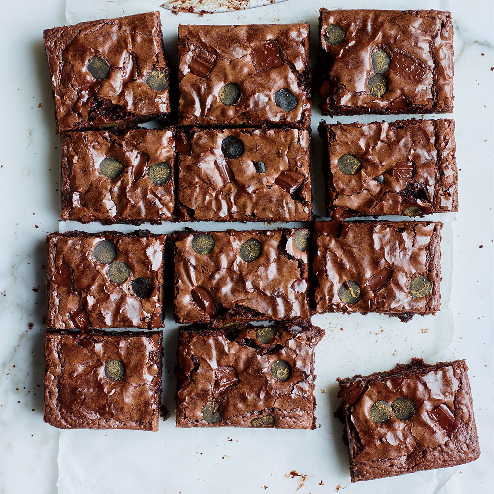 Chewy Black Licorice Chocolate Brownies