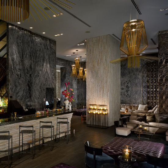 Living Room Bar At The W Hotel, Miami Beach