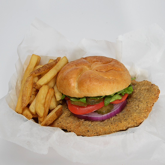 Pork Tenderloin Signature Sandwich with French Fries
