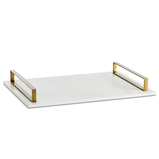Marble-and-Brass Tray