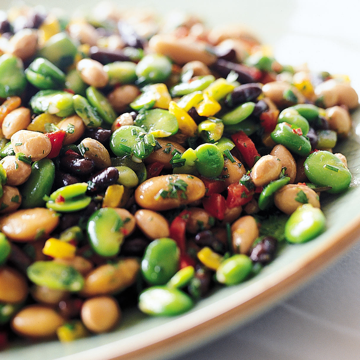 Herbed Mixed Bean Salad with Peppers Recipe - Jean-Christophe Royer ...