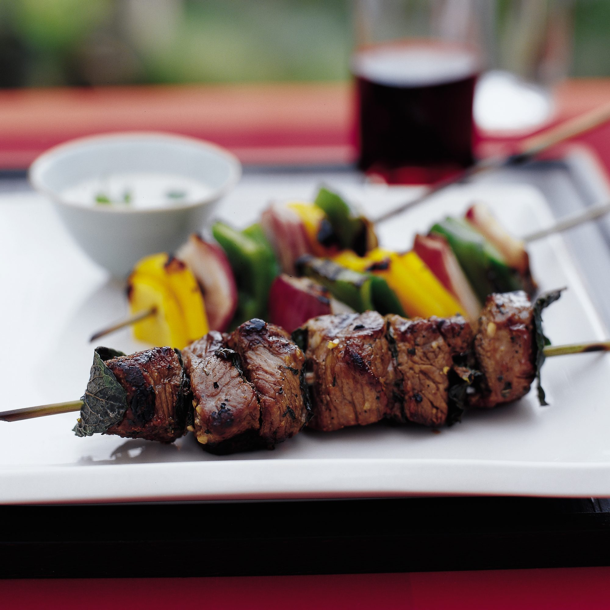 Turkish Shish Kebabs with Garlicky Tahini