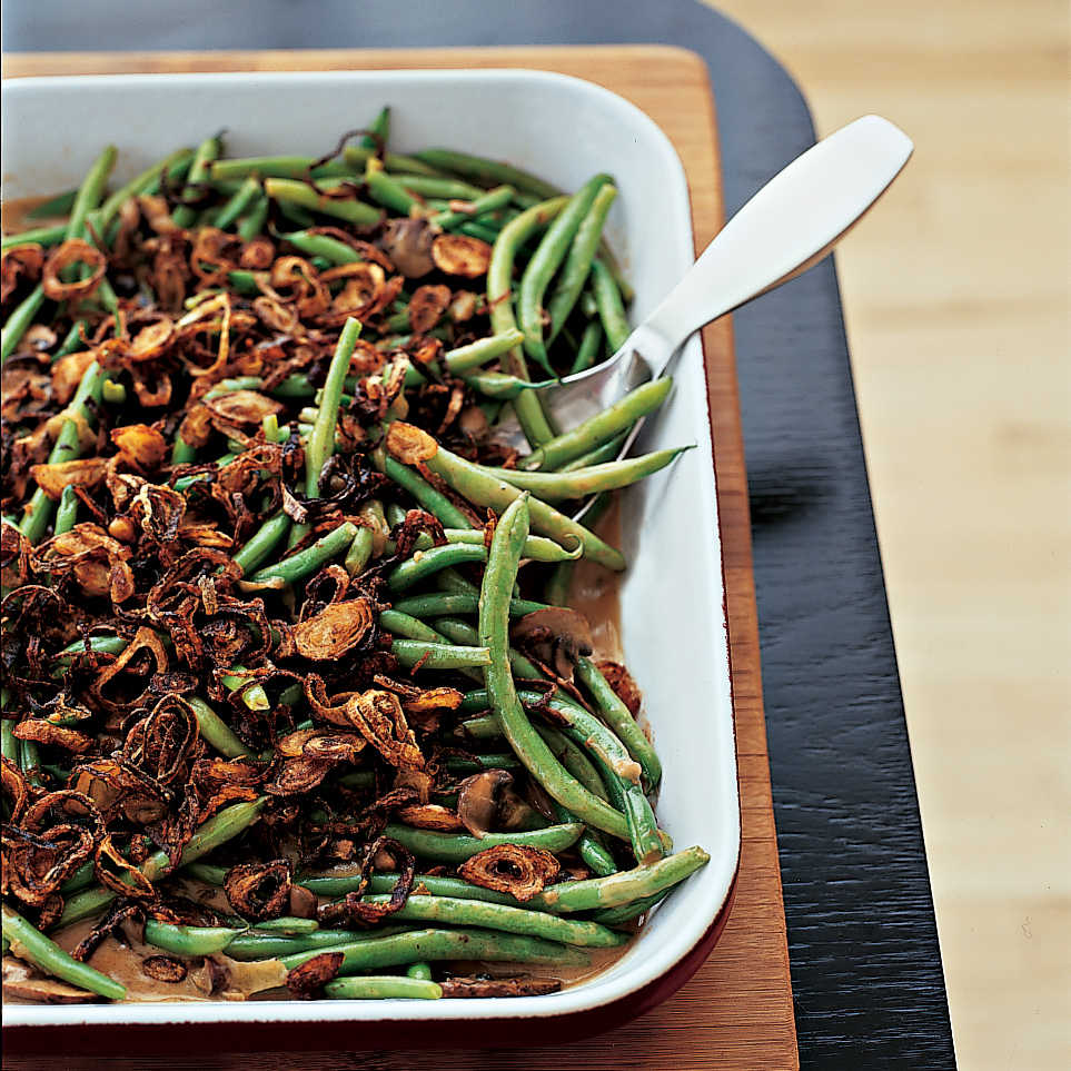 Thanksgiving Recipes for Kids Like Green Beans with Cremini Mushroom Sauce