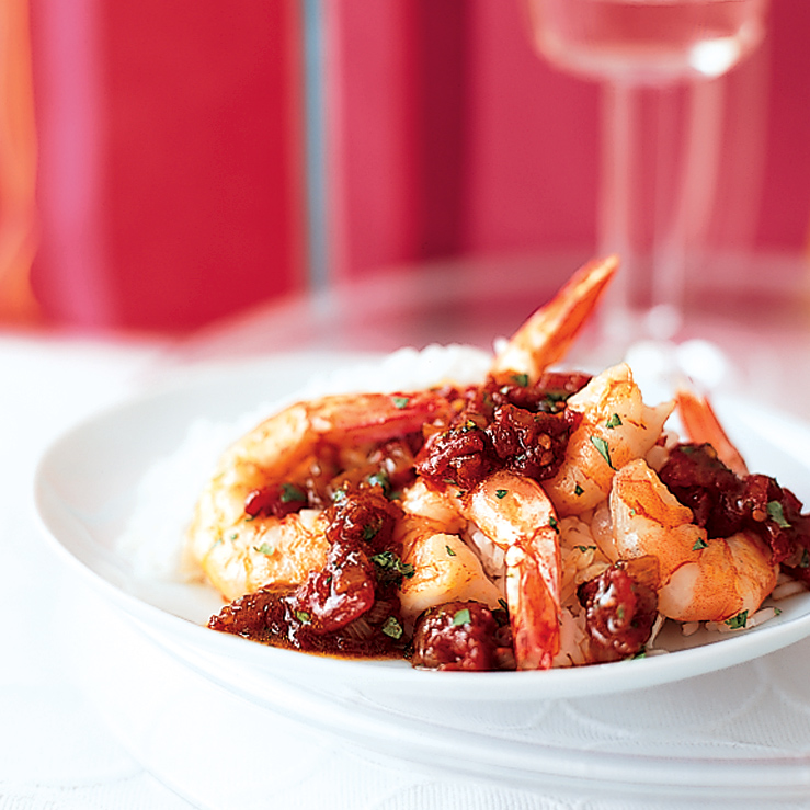Shrimp in Pomegranate Curry