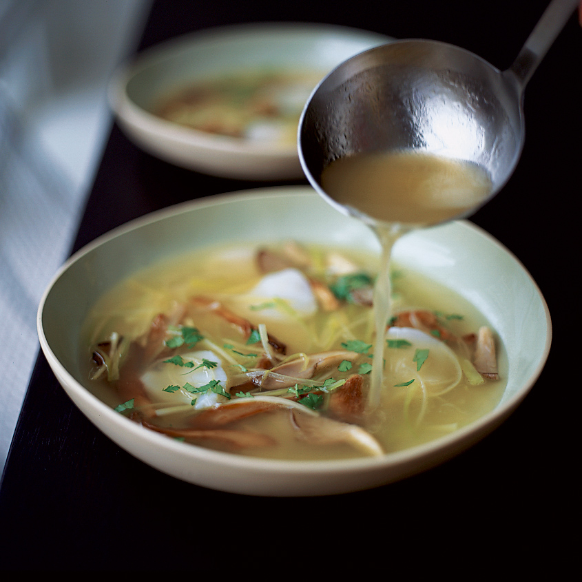 Scallop and Mushroom Soup with Ginger and Leeks Recipe - Jean-Georges ...