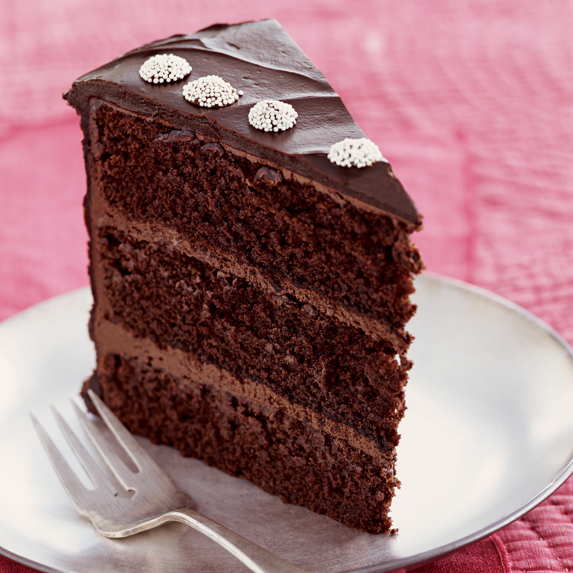Chocolate Layer Cake with Peppermint Ganache Frosting Recipe ...