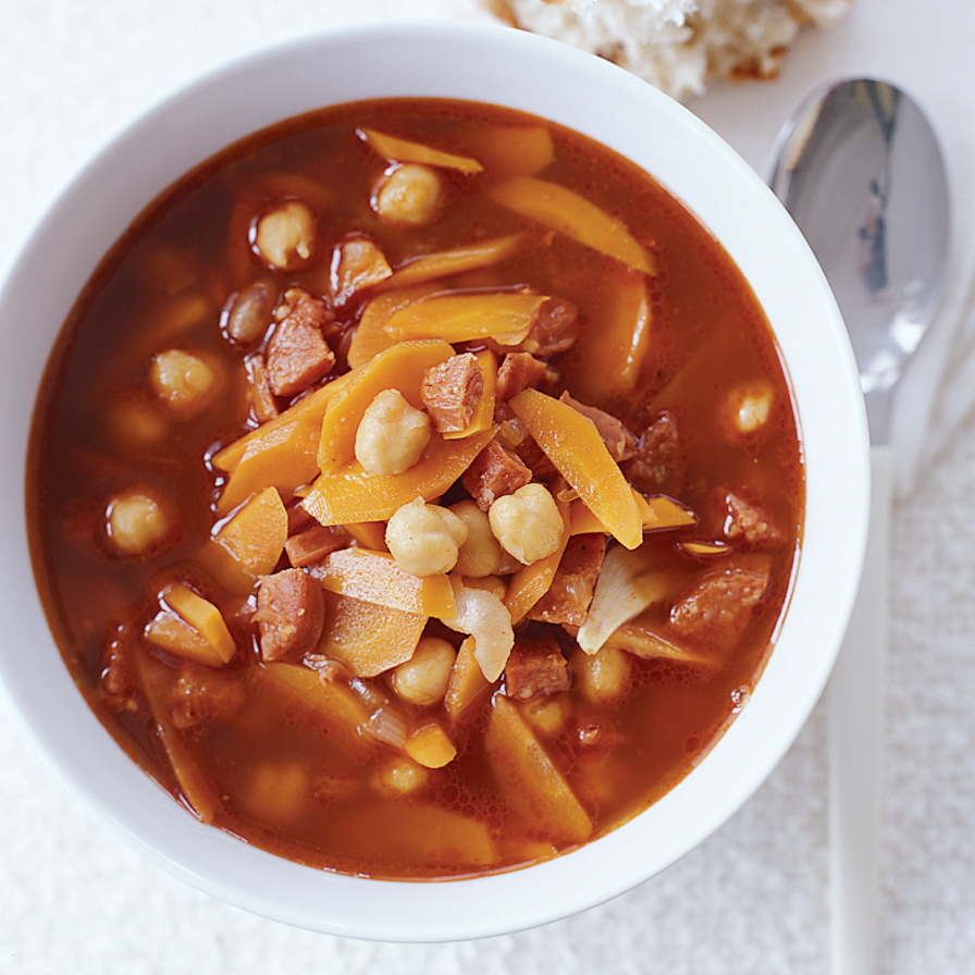 Garbanzo Soup with Chorizo and Smoked Paprika Recipe ...