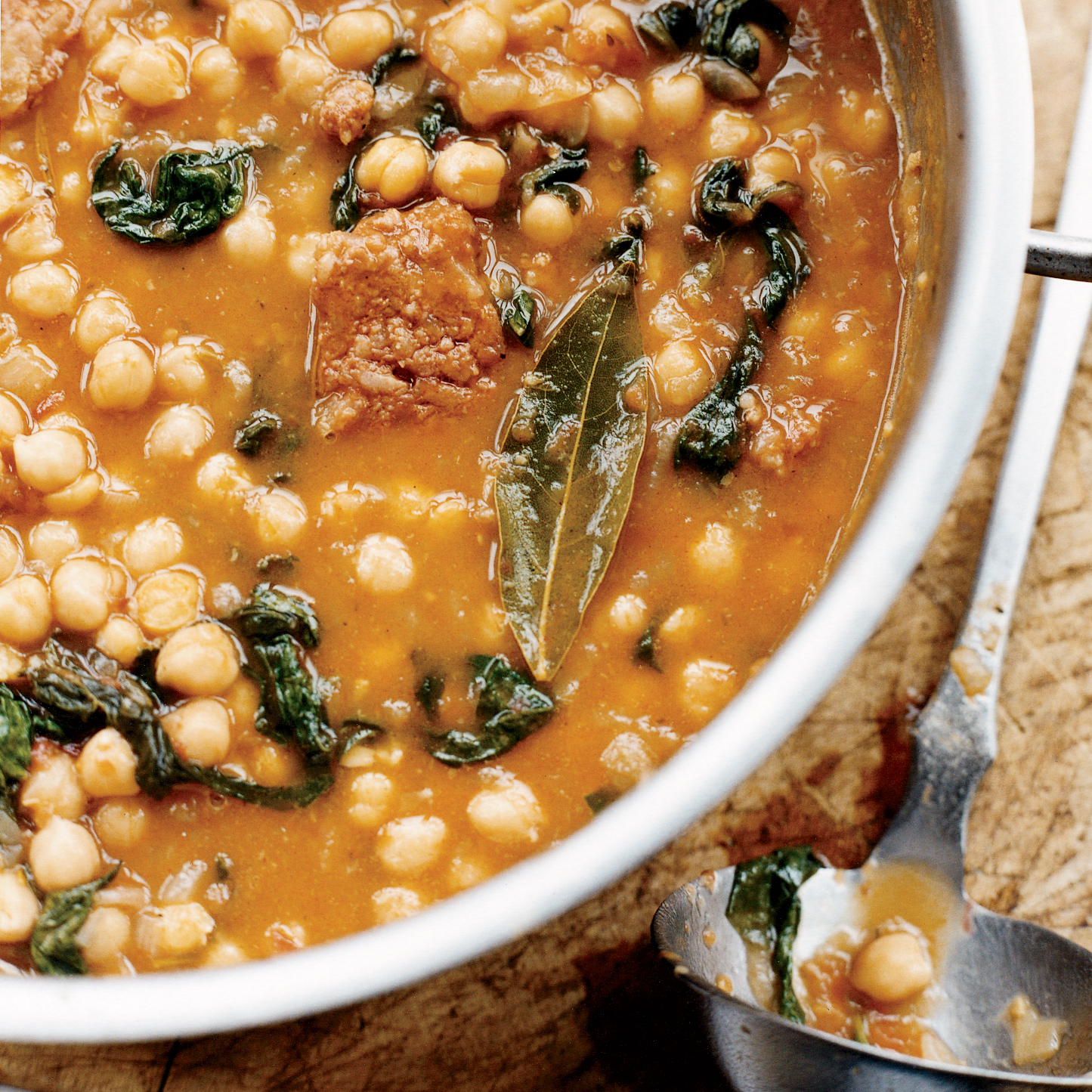 Chickpea Stew with Spinach and Chorizo Recipe - Sergi Millet | Food ...