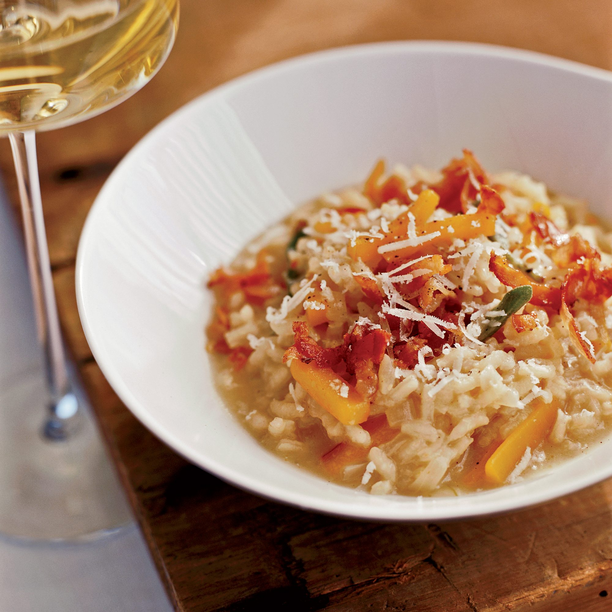 Butternut Squash Risotto with Crispy Pancetta Recipe ...
