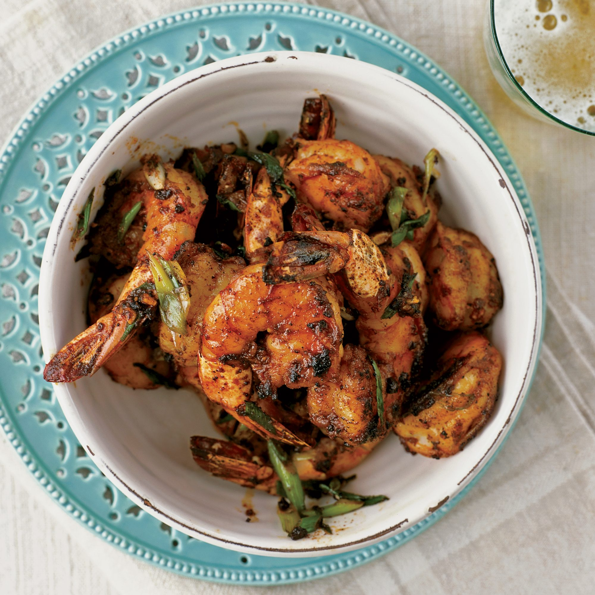 Peel-and-Eat Shrimp with Barbecue Spices Recipe - Bobby Flay | Food ...