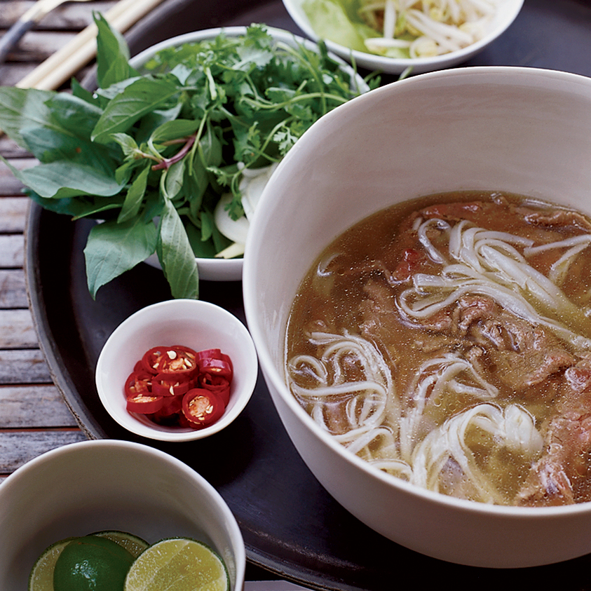 Spiced Beef Pho with Sesame-Chile Oil