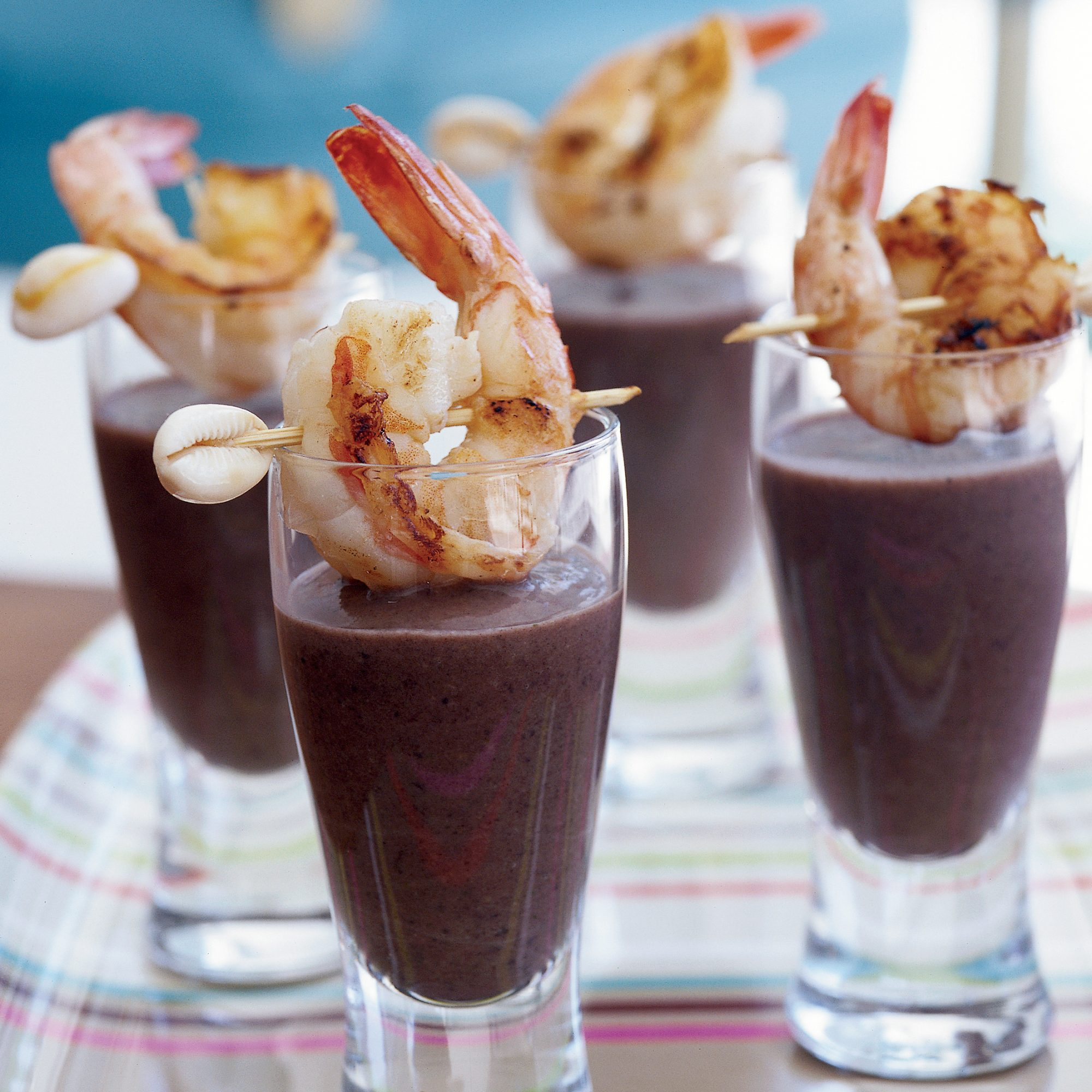 Halloween Party Recipes: Sherried Black Bean Soup with Shrimp