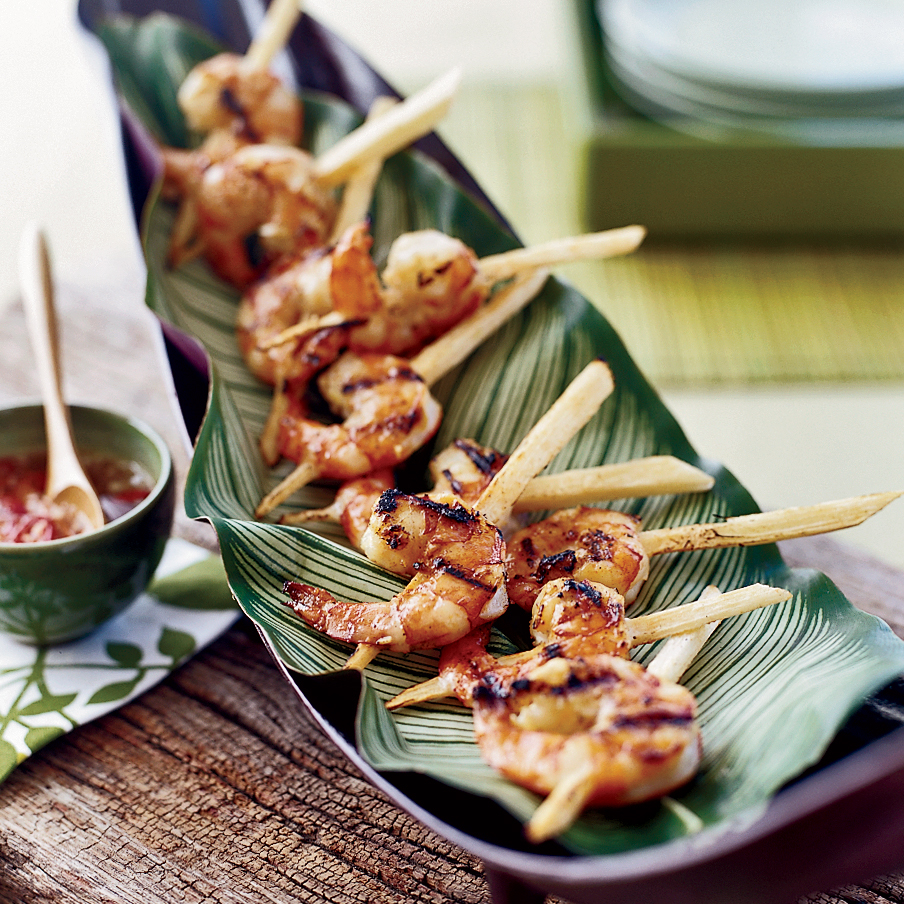 Vietnamese-Style Jumbo Shrimp on Sugarcane