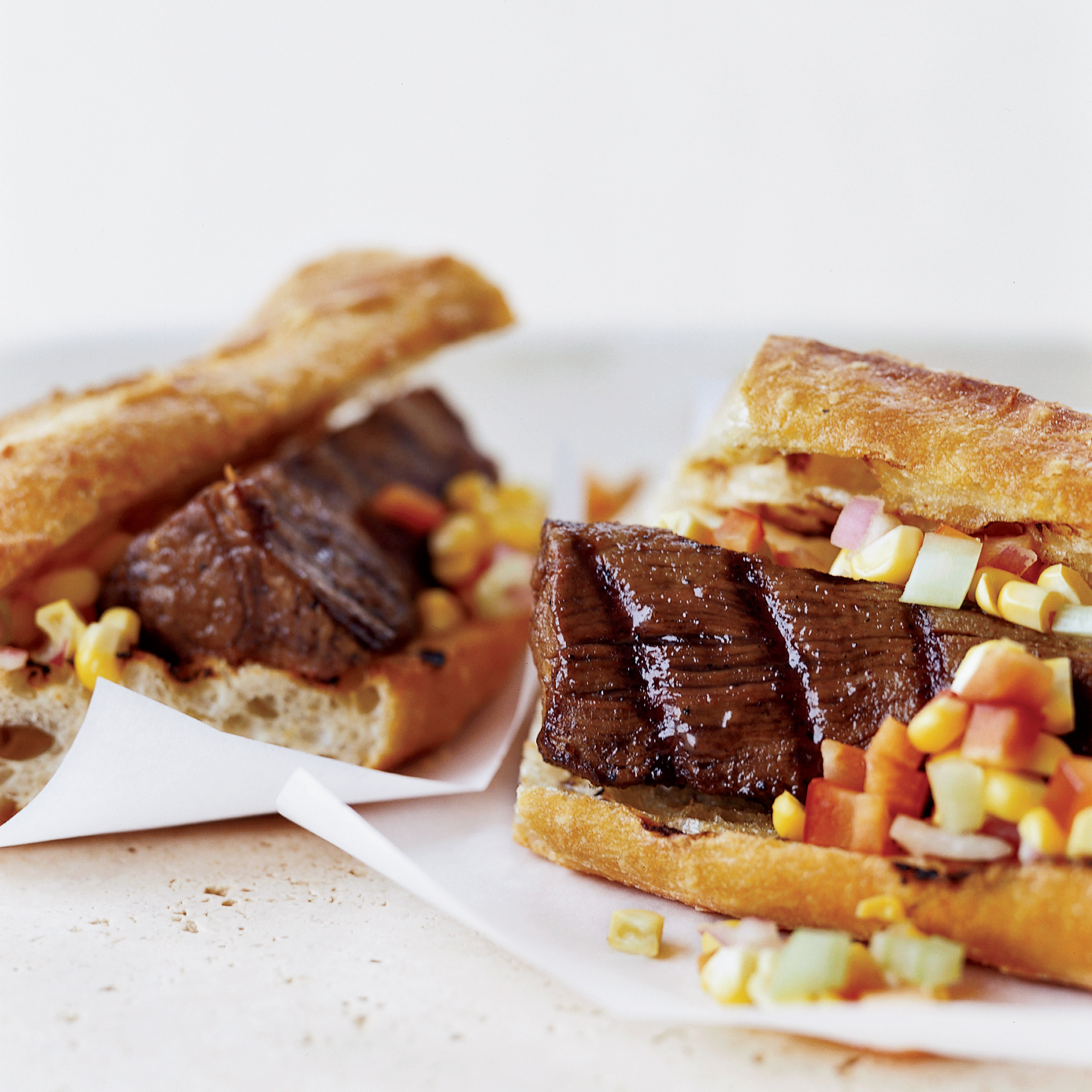 "Beef Tenderloin &#34Dogs"" with Corn Relish"