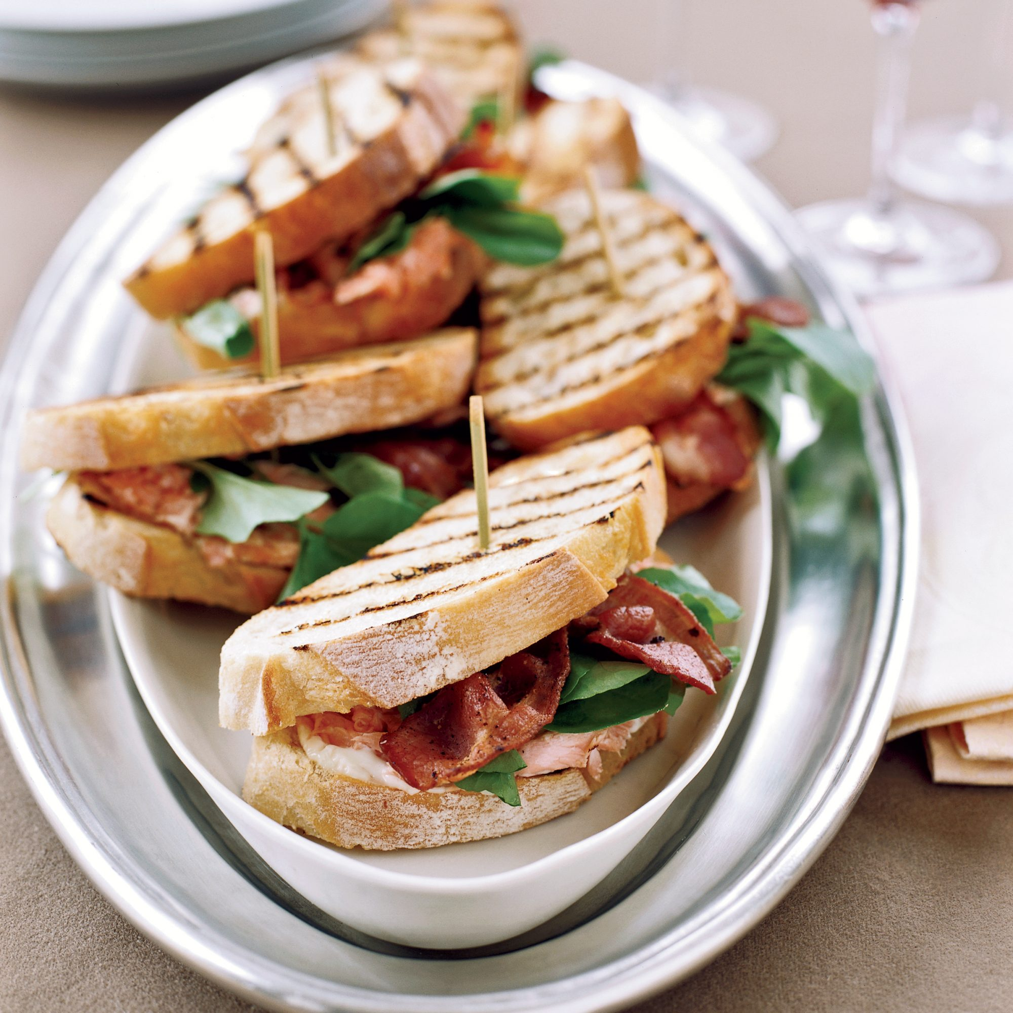 Grilled Salmon Sandwiches Recipe - Tim Love | Food & Wine