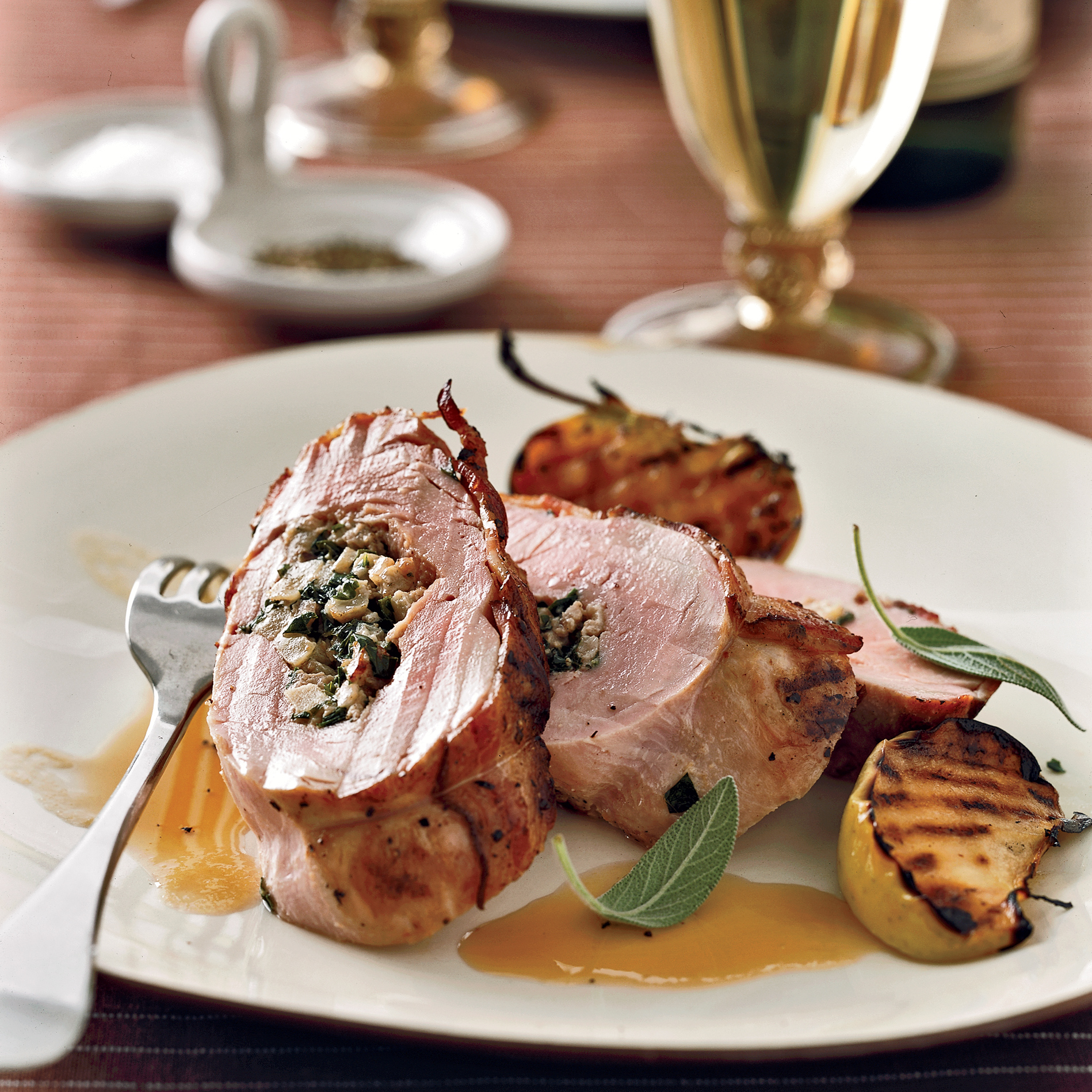 Cider-Braised Ham with Apple-Onion Compote