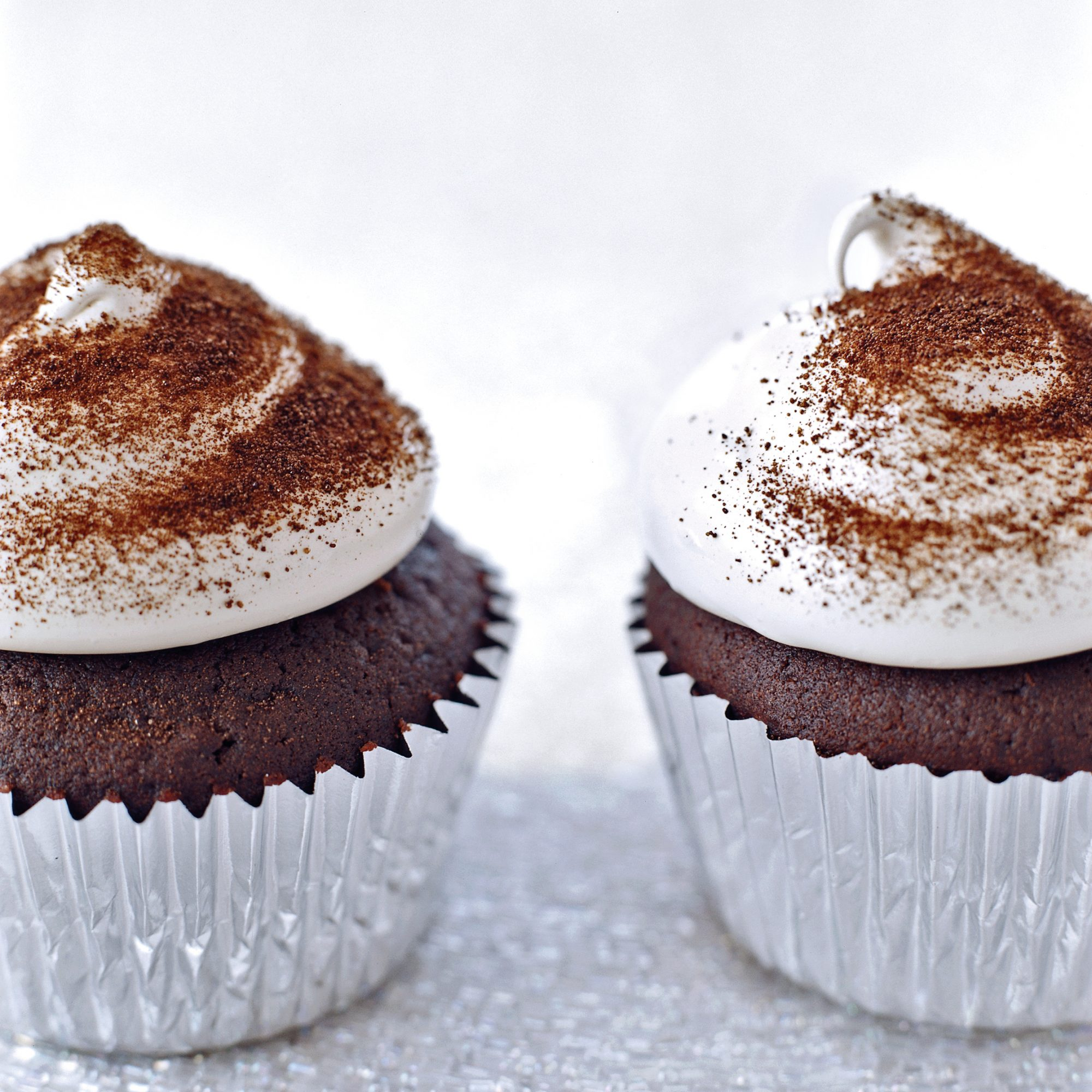 Devil's Food Cupcakes with Espresso Meringue