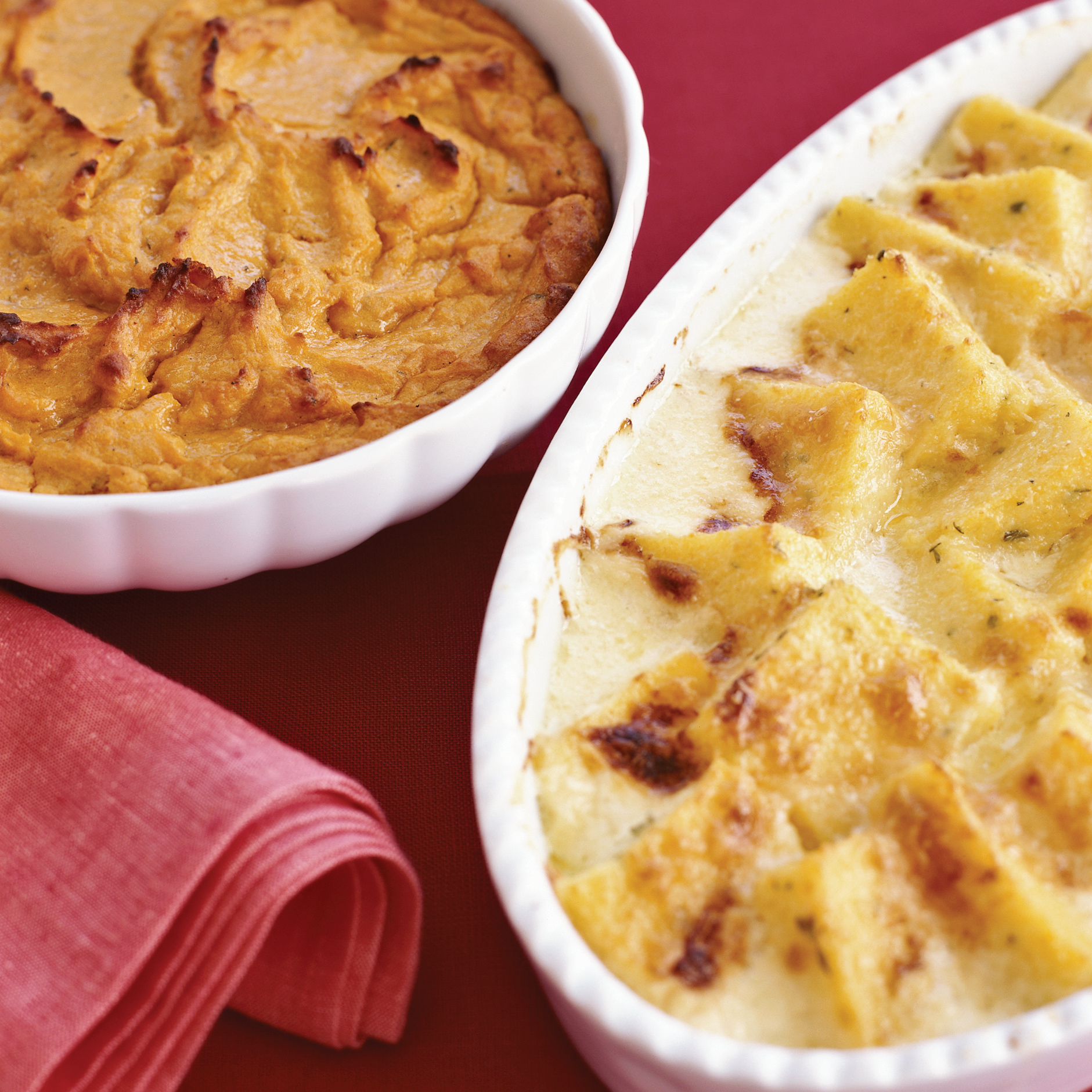 Holiday Potluck Recipes: Herbed Polenta and Parmesan Gratin