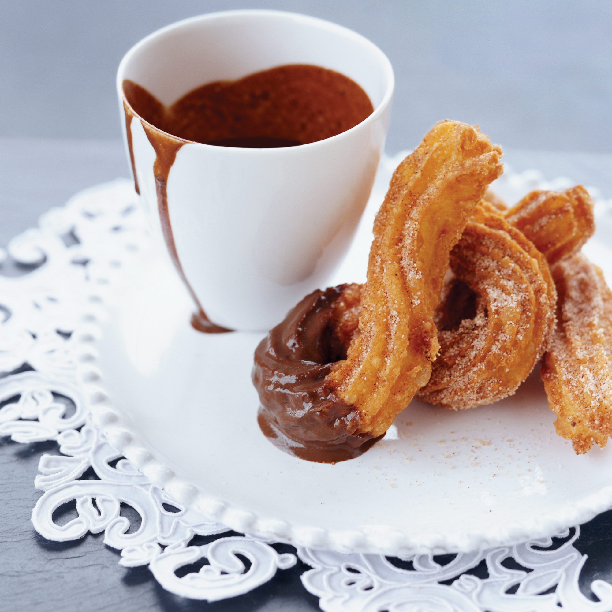 Warm Churros and Hot Chocolate