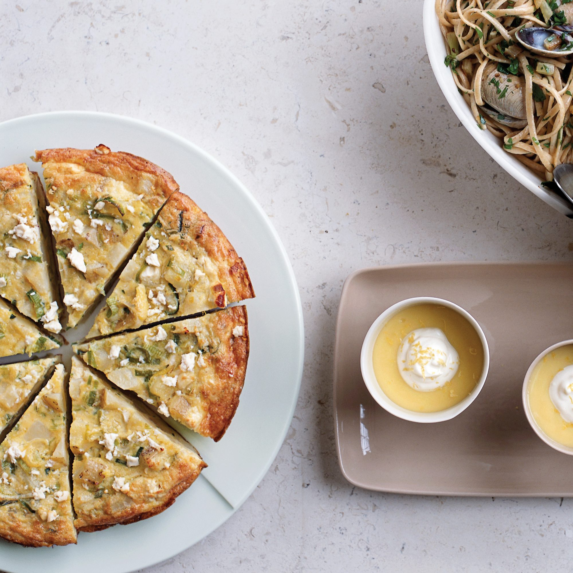 Yukon Gold Potato, Leek and Fromage Blanc Frittata