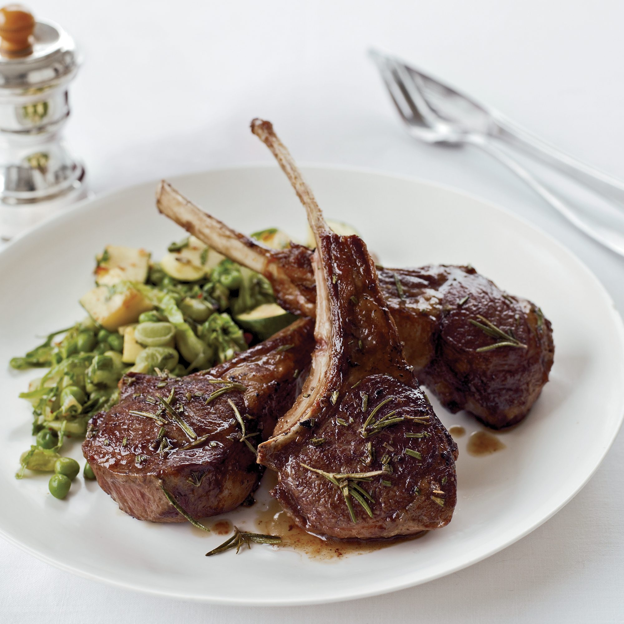 Rosemary Lamb Chops Recipe - Lidia Bastianich
