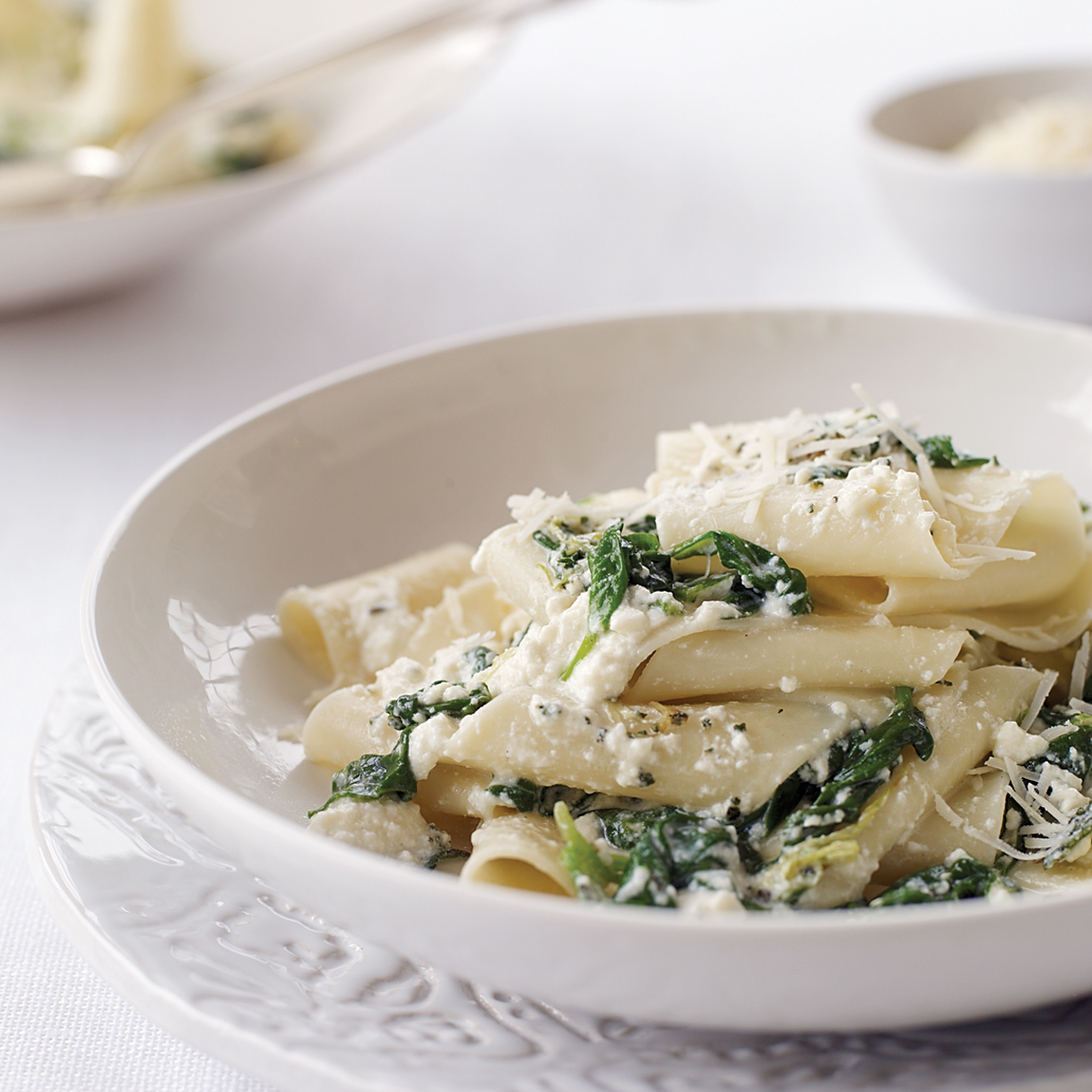 Spinach and Ricotta Pappardelle Recipe - Lidia Bastianich | Food ...