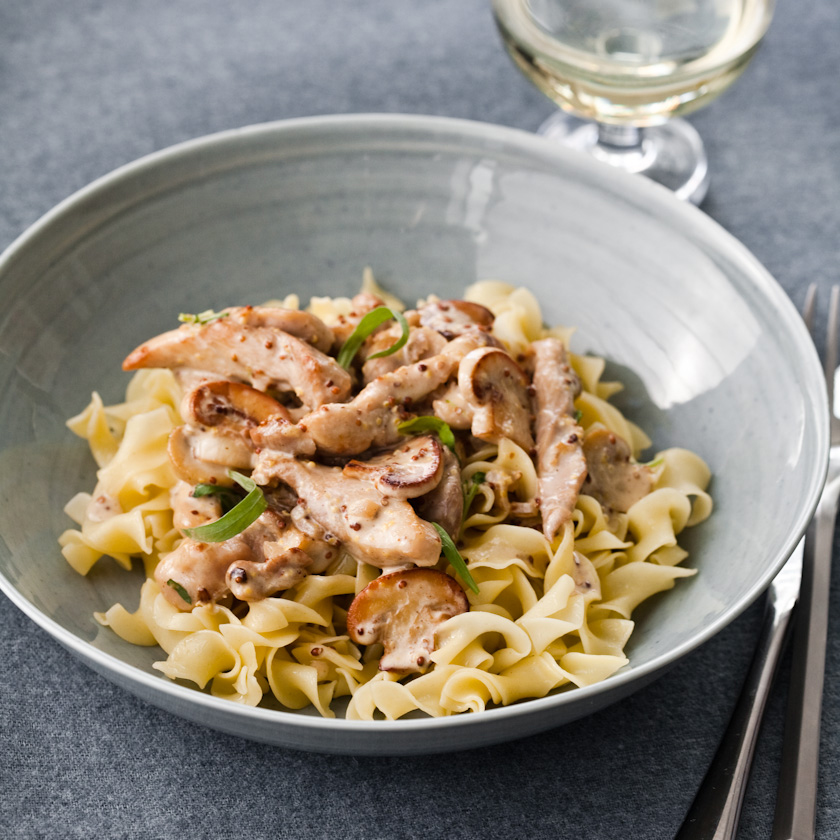 Chicken in Tarragon-Mustard Cream Sauce Recipe - Grace Parisi | Food ...