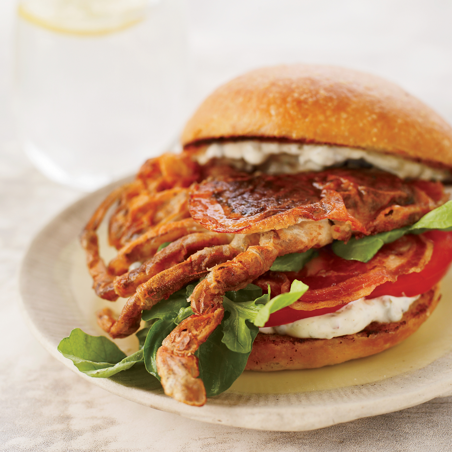 Soft-Shell Crab Sandwiches with Pancetta and Remoulade Recipe - Bruce ...