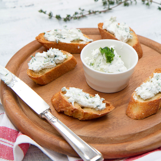 Goat Cheese-Garlic Toasts