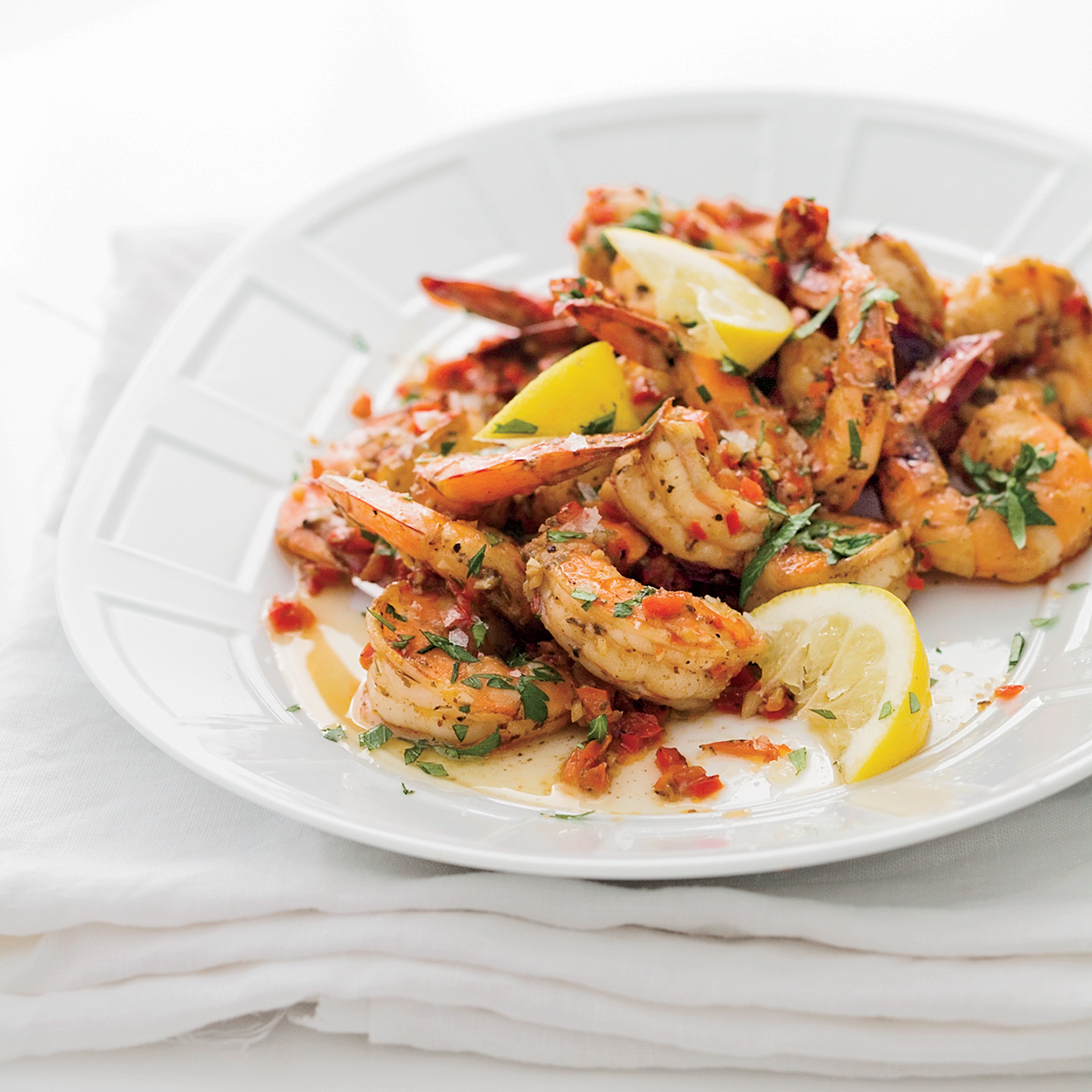 Creole Shrimp with Garlic and Lemon Recipe - Tory McPhail | Food ...