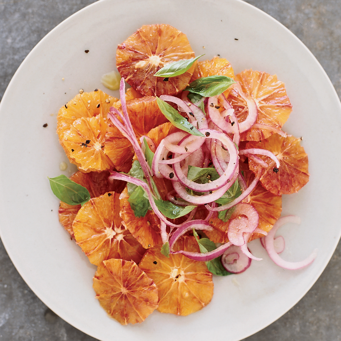 Blood Orange and Red Onion Salad Recipe - Mike Price ...