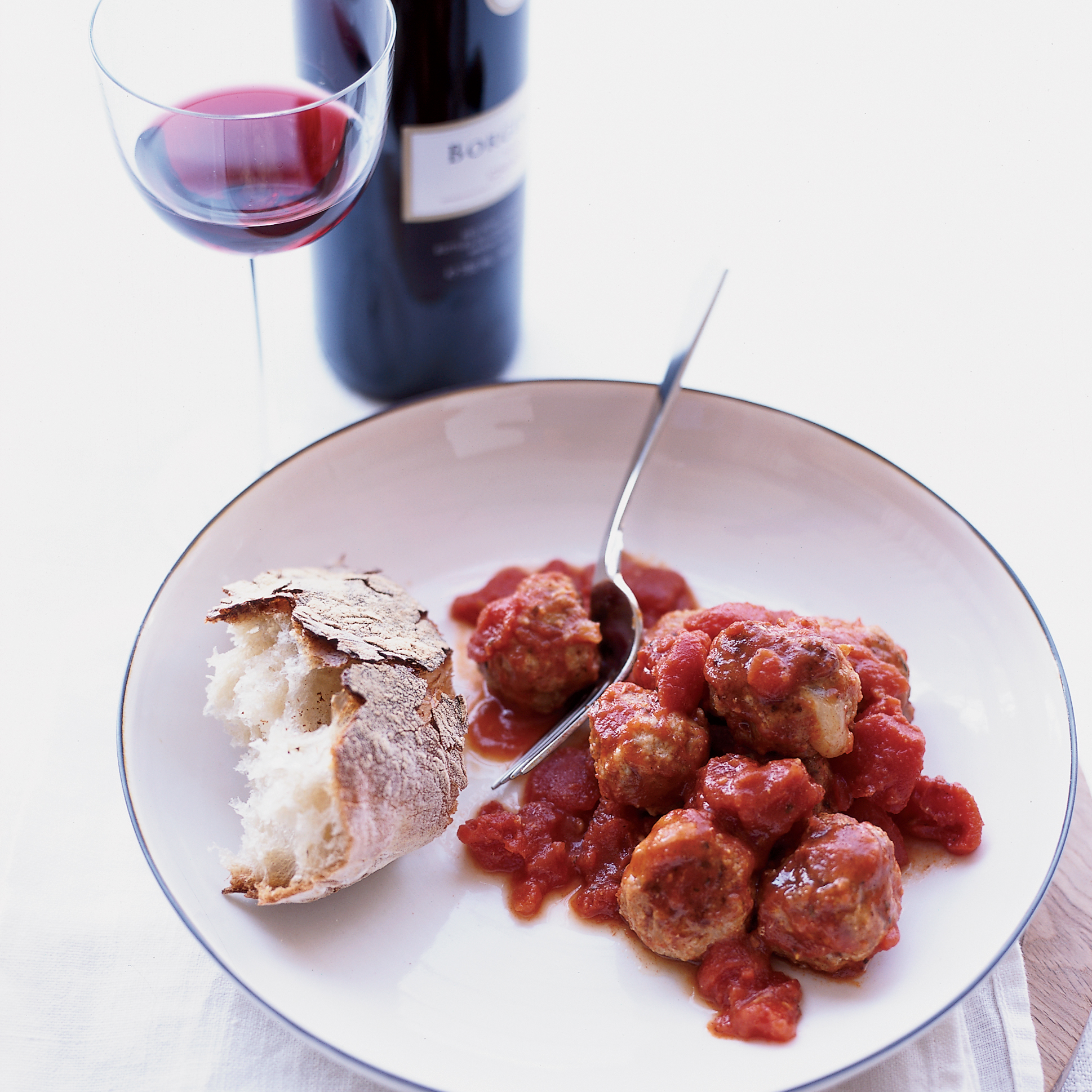 Fontina-Stuffed Veal Meatballs